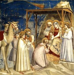 La adoración de los Reyes Magos de Giotto