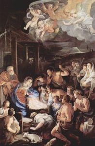 La adoración de los pastores de Guido Reni