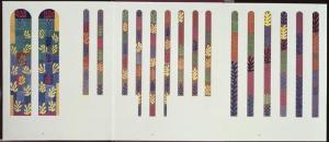 Conjunto de los bocetos finales de las vidrieras diseñadas por Henri Matisse
