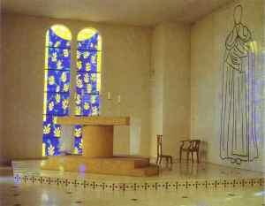 El altar de la capilla del Rosario