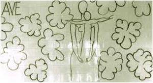 Mural de la Virgen con el niño de Matisse