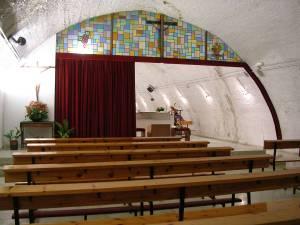 Vista de la parte posterior al presbiterio. Estado previo.