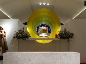 Detalle del óculo del tabernáculo.