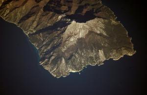 Foto aérea del Monte Athos.