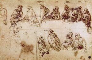 Estudio previo de Leonardo para la Última Cena.