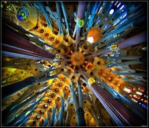 Detalle del techo de la Sagrada Familia.