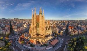 Vista aérea de la Sagrada Familia.
