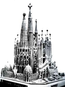 Maqueta de la Sagrada Familia de 1898.