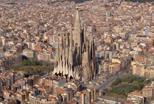 Renderizado del acabado final de la Sagrada Familia.