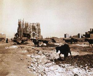 Situación de las obras en 1915.