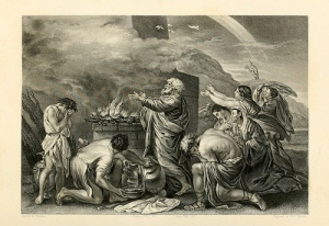 El sacrificio de Noé (Nicolás Poussin).
