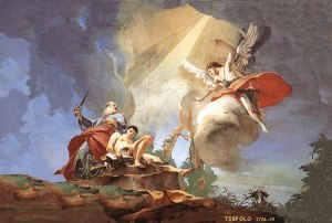 Abraham sacrificando a Isaac (Battista Tiepolo).