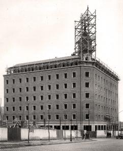 La residencia de los Recoletos, en plena construcción.