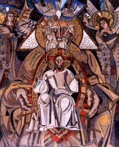 Mosaico central de la Trinidad, de Javier Clavo.