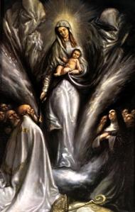 Nuestra Señora de la Consolación. Óleo de Juan Barba. Iglesia de Santa Rita de Madrid.