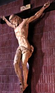Cristo de la Reconciliación. Talla en madera de Penella. Iglesia de Santa Rita de Madrid.