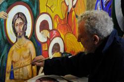 Kiko Argüello se inspira en el arte bizantino en sus obras.