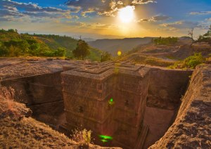 Vista superior de Bet Giyorgis Lalibela