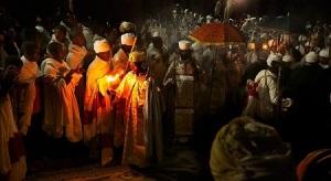 Natividad etíope en Lalibela.