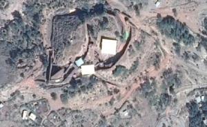 Vista aérea de lo templos al sur del arroyo Yordanos