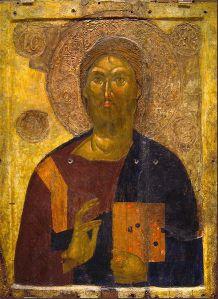 Icono de Cristo Pantocrátor, siglo XI. (Museo Cristiano y Bizantino de Atenas).