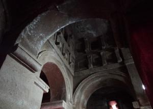 Interior del templo de Bet Abba Libanous.