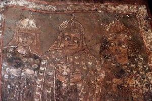 Mural del interior de Bet Merkorios.