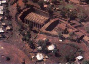 Vista aérea de Bet Medhane Alem.