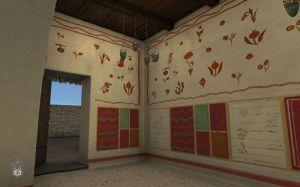Grafitos en lengua griega ,en siriaco, arameo y latín hechos por los peregrinos.