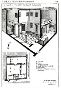 Planta y axonometría de la Titulus de Dura Europos.