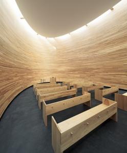 Interior de la Capilla del Silencio.