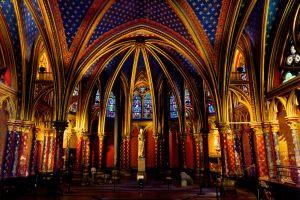Capilla inferior de Sainte-Chapelle.
