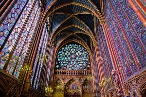 Rosetón de la capilla superior de Sainte-Chapelle.