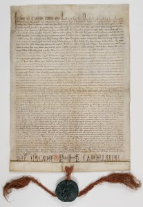 Carta fundacional de la Sainte-Chapelle por Luis IX.