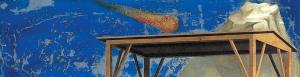 Detalle del fondo de la Adoración de los Reyes Magos.