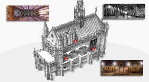 Sección de la Sainte-Chapelle.