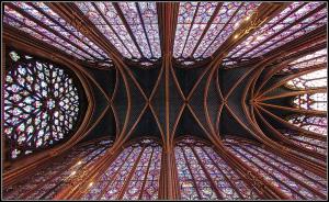 Techo de la capilla superior de Sainte-Chapelle.
