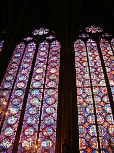 Detalle de las vidrieras de Sainte-Chapelle.