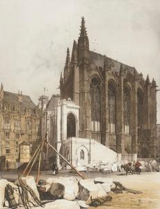 Sainte-Chapelle, en vísperas de su restauración de 18
