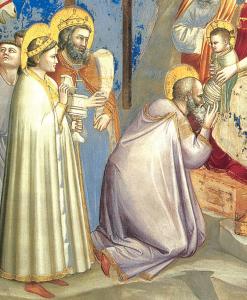 Detalle de los Reyes Magos.