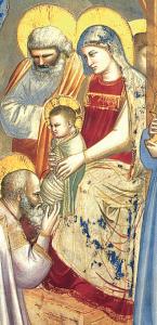 Detalle de la Sagrada Familia.