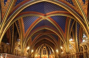 Techo de la capilla inferior de Sainte-Chapelle.