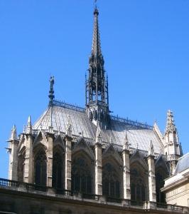 Cubierta de Sainte-Chapelle en la que destaca la aguja.