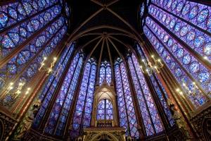 Ábside de la capilla superior de Sainte-Chapelle.