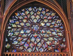 Rosetón occidental de Sainte-Chapelle.