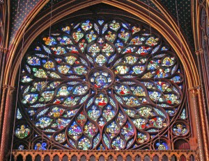 Rosetón occidental de Sainte-Chapelle.