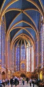 Interior de la capilla superior de Sainte-Chapelle.