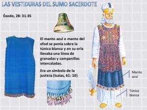 Vestidura del sumo sacerdote hebreo.