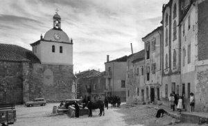 Fotografía antigua de Castrillo de Don Juan (España).