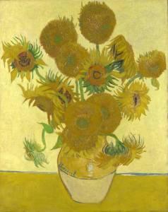 Los Girasoles de Vincent Van Gogh (1888).